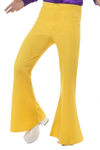 Flared Trousers - Yellow